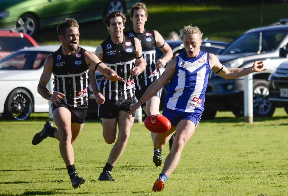 TOO QUICK: Victor Harbor ball winner Billy Wade had the ball on a string in Victor Harbor's 124 point win over Goolwa/Port Elliot.