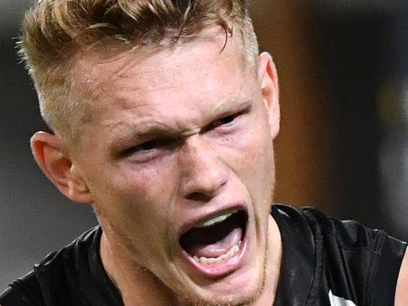 Adam Treloar has staked a bid to make his debut for the Western Bulldogs in round one of the AFL.